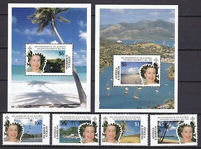 Antigua 1992 Accession Inc 2 X S/s (52) Mint Never Hinged