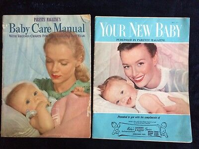 Lof of 2: Vintage 1949 Baby Care Manual & 1959 Your New Baby by Parents Magazine