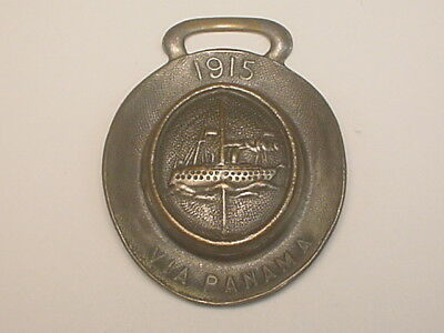 (San Francisco, CA) 1915 Pictorial Hat-Shaped Fob - Via Panama