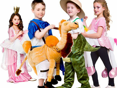 Childrens Fancy Dress Ride On Animal Costume Boys Girls Unicorn Novelty