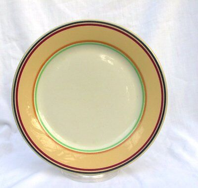 "Buffalo China Vintage Colorido Striped 7"" Plates Restaurant Diner FIVE"