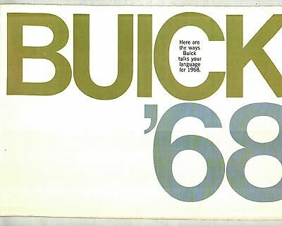 1968 Buick Full-Line Deluxe Color Sales Brochure