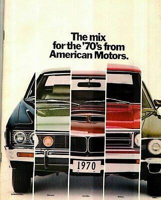1970 American Motors Amx, Javelin, Full-Line Deluxe Color Sales Catalog