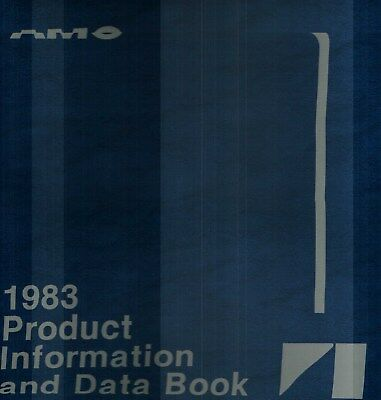 1983 American Motors Product Information Data Book Dealer Album