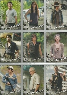 "The Walking Dead Road To Alexandria - ""Characters"" 20 Card Chase Set #C1-C20"