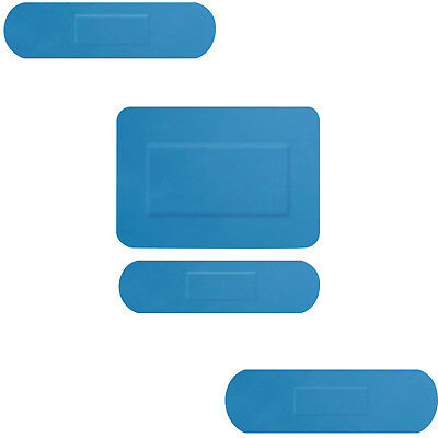 100 x Medical Blue Detectable Assorted Size Plasters Bandages First Aid Adhesive