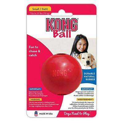 KONG Ball with Hole Dog Toy, Red