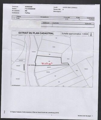 Forest land in Goesdorf Nocher Route  Luxembourg  7107  square meters