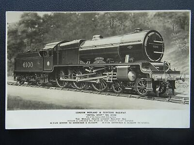 LMS London Midland Scottish Railway LOCO No.6100 THE ROYAL SCOT Old RP Postcard