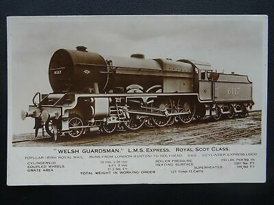 LMS London Midland Scotland Railway LOCO No.6117 WELSH GUARDSMAN Old RP Postcard