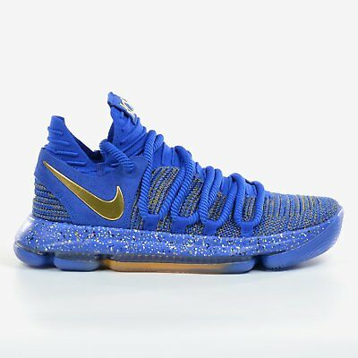 quite nice b48a7 24ad3 Nike Zoom KD 10 EP Racer Blue 2017 Finals MVP Metallic Gold FMVP X DS 897816