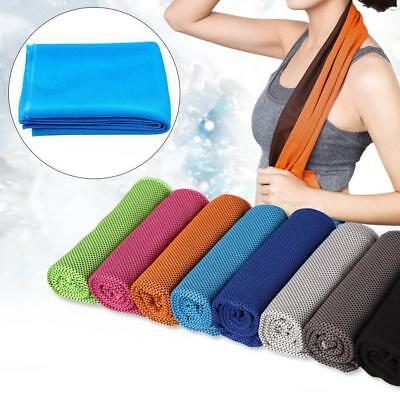 Cool Down Gym Towel Sports Fitness Jogging Cold Instant Cooling Chill Cloth`