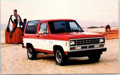 1986 FORD BRONCO II Automobile Postcard Car Advertising Hot Air Balloon Unused