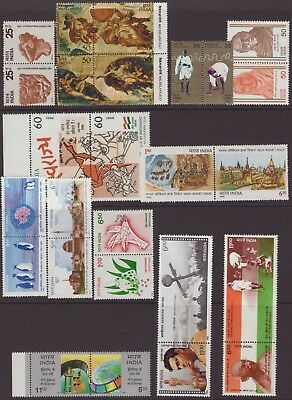 India Modern 1974-2000 PST 23-70 Selection 29 Se-tenant UM PI Rs 9400