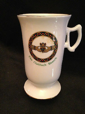 "Royal Tara Bone China ""The Claddagh Brooch"" Irish Coffee Mug"
