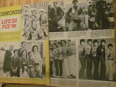 The Osmonds, Donny Osmond, Two Page Vintage Clipping, Brothers