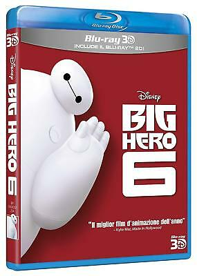 Blu Ray Big Hero 6 2D + 3D (2 Blu-Ray) ......NUOVO