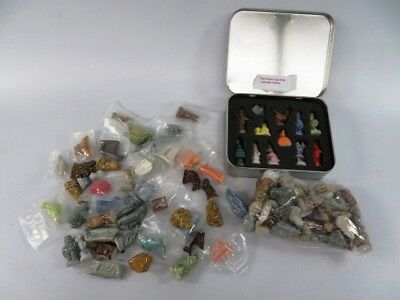 4 lbs Lot of Unsorted Wade Red Rose Tea Figurines - HIL