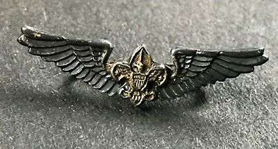 Vintage Air Scout Boy Scouts Lapel Pin Sterling Silver Bsa Explorer Badge Rank