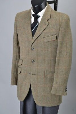 Gentleman's 1970s' Well Weathered John G Hardy Tweed Sports Jacket. Ref  GXO