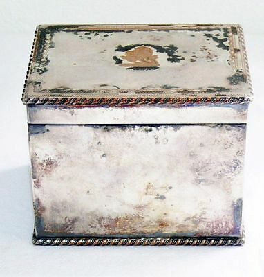 Antique Naylor Bros Silver-plated Copper Tea Caddy Cigarette Divided Box England