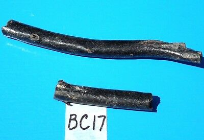 2 Pieces Rare Raw Black Coral Branches~Jewelry Making~Knife Handle Small Inlays