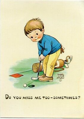 Mabel Lucie Attwell - Do You Miss Me Too Sometimes - Artist Drawn Postcard