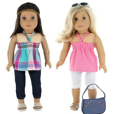 "American Girl Doll Clothes, 18"" doll clothes Set- 7 Pc., by PZAS Toys"