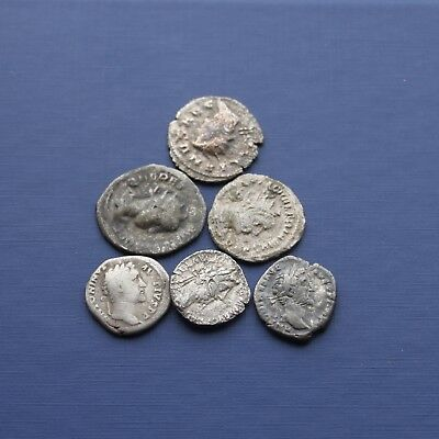Group Of 6 Silver Roman Coins Good Research Group