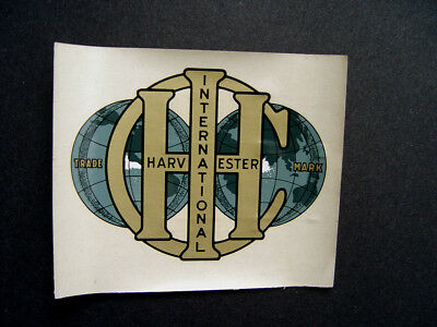 Mint Old Original Early Ih International Harvester Decal Mini Advertising Sign