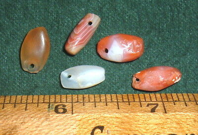(5) Choice Small Colorful Sahara Neolithic Pendants Prehistoric African Artifact