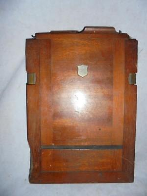 "ANTIQUE MAHOGANY & BRASS PLATE CAMERA HALF PLATE HOLDER TAKES 6.5"" x 4.75"""