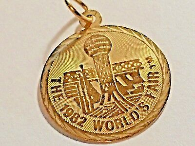 The 1982 World's Fair 14K Gold Charm Pendant And Box