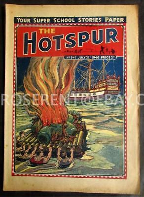 1946 The HOTSPUR  with  Fire Ship Pirate Galleon  cover - No 547 July 27th
