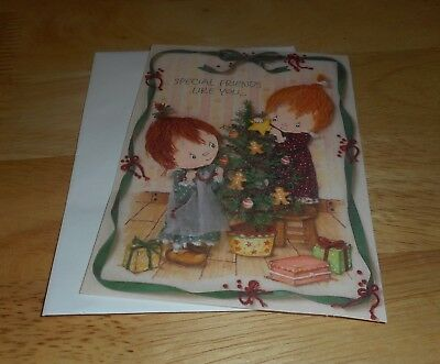 "Hallmark  Betsey Clark Greeting Card""special Friends Like You"" Vintage~Christmas"
