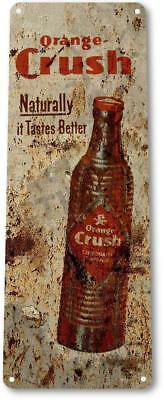 Orange Crush Soda Cola Drink Kitchen Metal Decor Sign