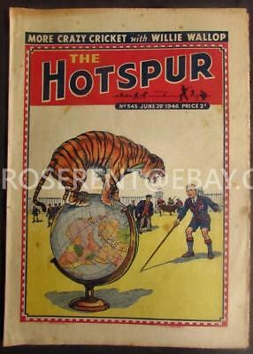 1946 The HOTSPUR  with Tiger on a Globe  Cover - No 545 June 29th