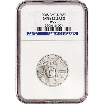 2008 American Platinum Eagle - 1/2 oz - $50 - NGC MS70 - Early Releases