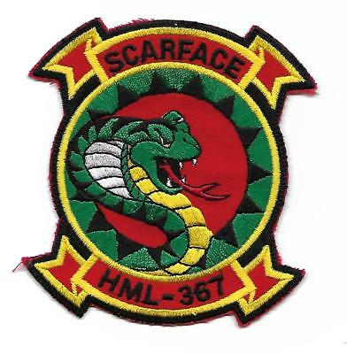 USMC HML-367 SCARFACE patch UH-1 LIGHT HELICOPTER SQN