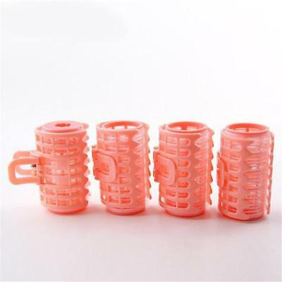 4x Hair Curler Roller Grip Plastic Styling Roller Curlers Hairdressing Tool W