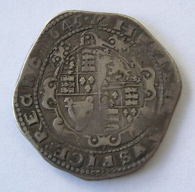 Great Britain Silver Crown Charles I 1645 MS Over strike