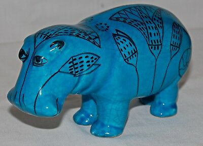 William / Willy / Pottery Hippo Metropolitan Museum Vintage Bitossi Italy