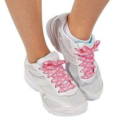 1 Pair - Breast Cancer Awareness Cure Pink Ribbon Sneaker Shoelaces