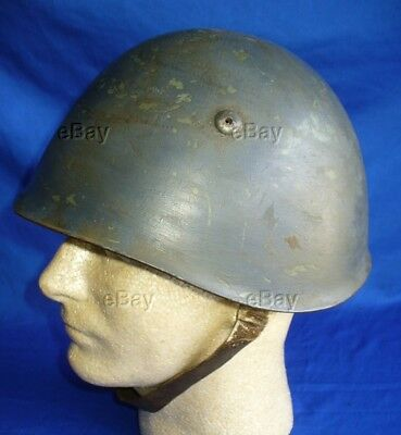 Ww2 Italian Helmet Fascist Italy Good Paint Patina Liner Chinstrap Wwii M33 Army