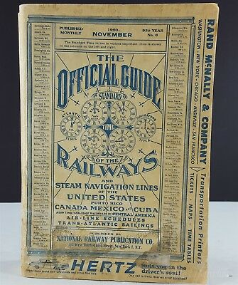 The Official Guide of The Railways November 1960 Original