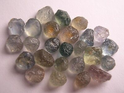 Corundum / Sapphire, Clean Mixed Color Untreated Crystal Facet Rough, Montana