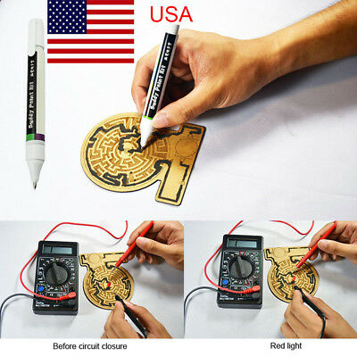 6 ml Conductive Ink Pen Dry Electronic Circuit DIY Draw Instantly Tool USA