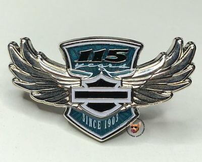 Harley Davidson 115Th Anniversary Wing Pin Vest Jacket Pin Authentic