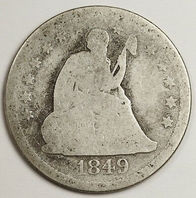 1849 Liberty Seated Quarter.  Circulated.  129393