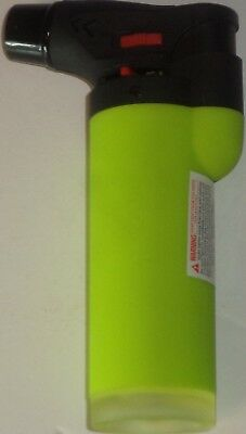 NEON Eagle Torch Refillable Windproof Jet Lighter Color Green Size 4 inches